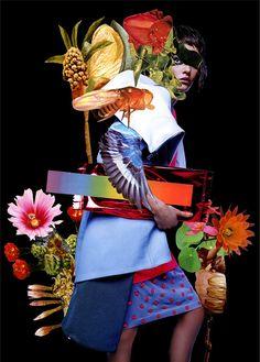 """Colagem de Ashkan Honarvar inspirada na obra """"The Dream"""" de Henri Rousseau para a Eclectic Society Magazine."""