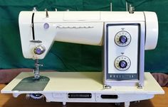 The Kenmore 540, sister machine to the famous Kenmore 904, is a very heavy, solid sewing machine with a 1.2 Amp motor. It's a fine, precision machine with lots of power. And it's so, so pretty!