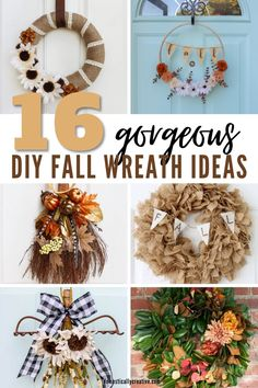 Decorating your front door is one of the easiest ways to decorate for the seasons, so I am loving all of these fantastic DIY Fall wreath ideas for our home! #fall #wreath #domesticallycreative #homedecor #frontdoor Diy Fall Wreath, Fall Diy, Fall Wreaths, Wreath Ideas, Christmas Wreaths, Indoor Wreath, Cool Diy Projects, Wreaths For Front Door, Seasons