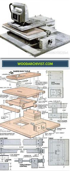 DIY Jig Saw Сircular Saw - Jig Saw Tips, Jigs and Fixtures | WoodArchivist.com