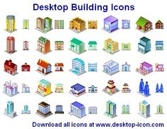 A collection of 3D (isometric projection) icons depicting various objects of city infrastructure, Desktop Building Icons are here to help design the look and feel of a perfect architectural planning or mapping suite. Desktop Building Icons make for a perfect city map when assembled together. Landscapers and architects, students and city planners can benefit from using Desktop Building Icons by expressing the perfect styling. Products using Desktop Building Icons look professional and…