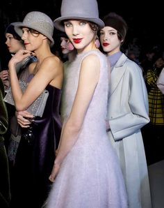 Backstage looks from the Emporio Armani Fall/Winter 2013 Collection