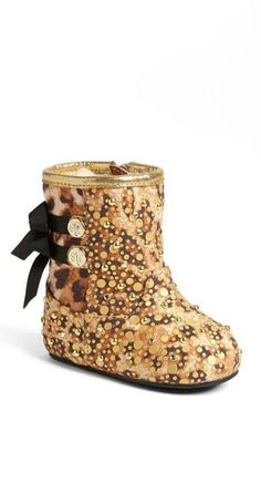 Tiny, blingy booties.