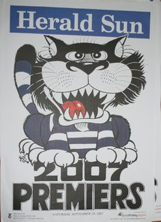 Weg Premiers Poster 1969 Richmond Tigers Weg Posters