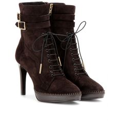 F/W 13-14   BURBERRY LONDON -MANNERS BROGUED SUEDE ANKLE BOOTS