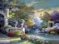 Коллекция картинок: Картины художника Джеймса Ли (James Lee)_ Город, парк и еще кое-что!