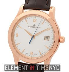 Element In Time   Jaeger-LeCoultre Master Control 139.24.20 Date 18k Rose Gold 40mm Silver Dial ($10,695.00)