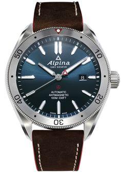 Alpina Watch Alpiner 4 AL-525NS5AQ6 Watch Casual Watches, Cool Watches, Watches For Men, Fine Watches, Wrist Watches, Mens Watches Leather, Leather Men, Alpina Watches, Festina