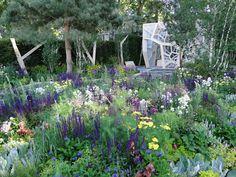 Beautiful planting scheme at Chelsea Flower Show.  via Adam Woodruff