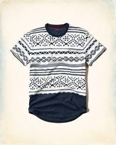 Camiseta con estampado en contraste