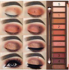 Everyday brown smokey eye makeup tutorial