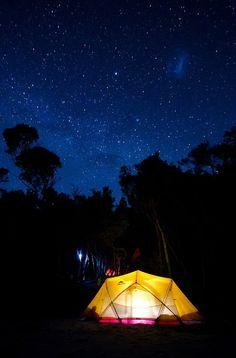 Star spotting in South West Tasmania, Australia