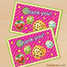 FREE Printable Shopkins Thank You Card