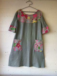 gallery - 100 Acts of Sewing |dress 100 (2012) |materials: linen and cotton print |pattern: own