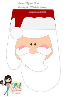 Fof Shell: Tutorial de Natal - Luva Papai Noel