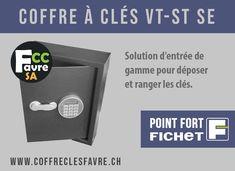 Coffre à clés VT-ST SE Solution d'entrée de gamme pour déposer et ranger les clés. #COFFRE #CLES #VTSTSE #POINTFORT #FICHET #GENEVE #SECURITE