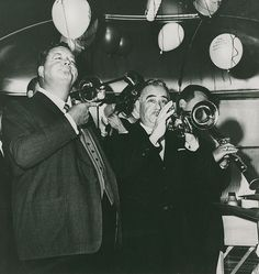 Jackie Gleason and Phil Napoleon on stage