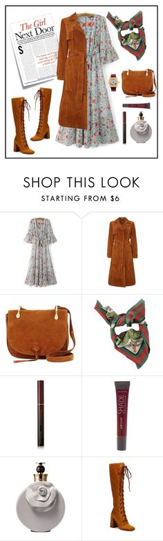 """""""The girl next door 🚪!!!!"""" by julianazaraza ❤ liked on Polyvore featuring WithChic, Post-It, Therapy, Elizabeth and James, Gucci, Kevyn Aucoin, Lane Bryant, Valentino, Prada and Cartier"""