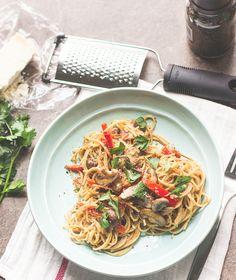 Lightened Up Pasta Carbonara