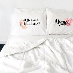 Valentines Day Couples Pillowcase Harry Potter After All This Time Always Pillows Long Distance Relationship Gift LDR Pillowcase Love Always Harry Potter Pillow, Couple Pillowcase, New Bedroom Design, Bedroom Decor, Bedroom Ideas, After All This Time Always, Long Distance Relationship Gifts, Funny Pillows, Valentines Day Couple
