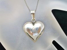 Vintage Sterling Silver Heart Necklace by TheJewelryLadysStore, $42.00