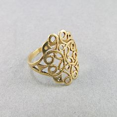 Vintage 9K Gold Ring Jewelry Solid Gold Jewelry by OldJewelryStore $156.97