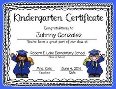 KINDERGARTEN & PRESCHOOL GRADUATION CERTIFICATES & INVITATION (EDITABLE) Pre K Graduation, Preschool Graduation, Graduation Ideas, First Grade, Second Grade, End Of Year Activities, End Of School Year, Nursery School, Graduate School