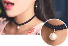 Pearl Black Choker Necklace
