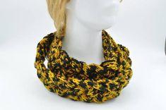 Crocheted Braided Scarf / Women Cowl necklace / Trendy women #braided