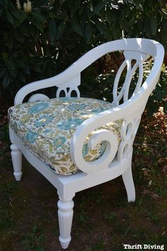 BEFORE & AFTER: Vintage Chair Makeover From the Nursing Home