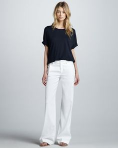 350b88617be Wide-Leg Linen Trousers at CUSP. Summer Pants Outfits
