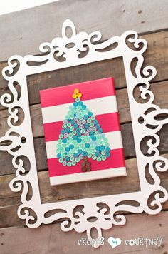 Crafts by Courtney.  Christmas Craft: How I Turned My Button Heart Into a Christmas Tree