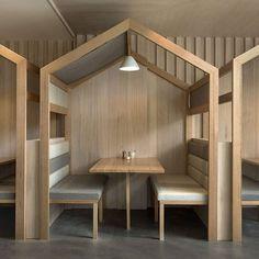 The Kitty Burns restaurant in Melbourne by Biasol Design Studio Restaurant Interior Design, Design Hotel, Cafe Interior, Office Interior Design, Interior Design Studio, Cafe Design, Office Interiors, Room Interior, Cafe Seating