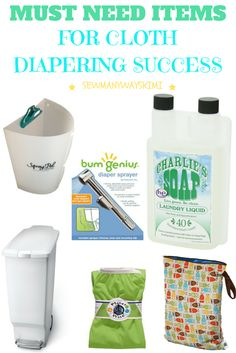 must need items for cloth diapering success