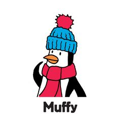 """Muffy is one of the family of penguins to find in """"Zoo Escape"""", one of the search-and-find jigsaw puzzles I'm offering on Kickstarter. The image first appeared in my book """"Where's the Penguin?"""". Follow the link for more info.  #searchandfind #jigsawpuzzle #jigsaw #puzzle #childrensbook #kidlit #wheresthe #seekandfind #cartoon #cartoonart #seekandfind  #zoo #animals #penguin #muffy #cold #hat #scarf"""