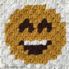 Happy Face Emoji. #crochet#crochetaddict#crochetofinstagram#crocheters#crocheting#crochetlove#crochetersofinstagram#crochetblanket#crochetc2c#crochetpixelgraph#crochetc2cblanket#knit#pixel#blanket#pixelgraph#baby#homedecor#cornertocorner#emojis#handmade#winter#emojiblanket#afghan#emoji#winter#etsy#etsyshop#etsyseller#kids#happy by jenjohnsoncrochet