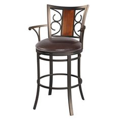 The Rebecca Metal Oversized Brown Barstool brings your room to life. Visit your local At Home store to purchase and find more affordable Bar Height Barstools. Decor, Wood, At Home Store, Bar Stools, Furniture, Metal, Wood Paneling, Home Decor, Stool