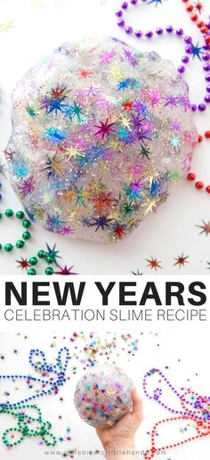New Years Eve Slime Recipe for Kids! Celebrate with an easy to make New Years Eve slime recipe perfect for kids New Years Eve party activities!Celebrate with an easy to make New Years Eve slime recipe perfect for kids New Years Eve party activities! New Years With Kids, Kids New Years Eve, New Years Eve Games, New Years Eve Party, New Year's Eve Activities, Party Activities, Childcare Activities, Winter Activities, Christmas Activities