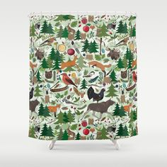 Woodland Shower Curtain by Emma Jansson | Society6