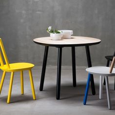 Ø90 Naïve Dining Table by etc. etc. for EMKO designed in Lithuania #MONOQI