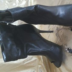 SALE - NOW $8  Stiletto Heel PEEPTOE BOOTIES Never worn, no wear no Shoes Ankle Boots & Booties