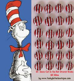Dr Seuss Cat In The Hat Painted Dresser Chest Of Drawers Caleb Seuss Room Pinterest Dresser