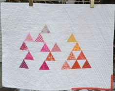 Triangles by shecanquilt, via Flickr