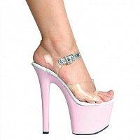 Ellie Shoes Women's 711 Flirt C Platform Sandal Pole Dancing, Dancing Shoes, 7 Inch Heels, Stripper Heels, Clear Heels, Stiletto Shoes, T Strap Sandals, Heeled Sandals, Sexy Heels