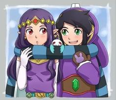 Hilda and Ravio from link between worlds