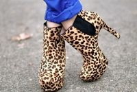 meow! leopard print heels..