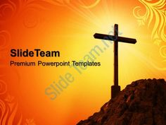 sermon ideas powerpoint templates yellow cross symbol process ppt Slide01