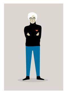 Andy Warhol print via Judykaufmann on Etsy