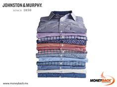 En Johnston & Murphy puedes encontrar el ajuste perfecto en lo que a camisas se refiere. Diseñadas poniendo atención a cuello, hombros, mangas y puños, estas camisetas harán lucir excepcional en los días más importantes. ¡Johnston & Murphy te da un reembolso de impuestos con Moneyback! #moneyback