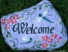 Dragonfly Welcome Rock Stepping Stone ePacket - Susan Kelley - PDF DOWNLOAD